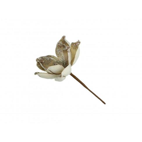 Изкуствено цвете 25см Champagne екрю