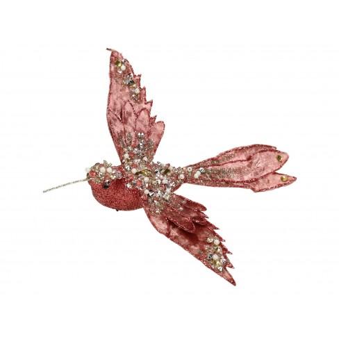 Висяща фигура птиче 22см розово