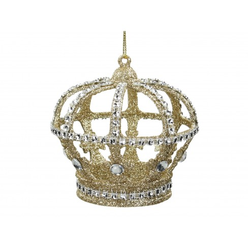 Висяща фигура корона 9.5см златиста