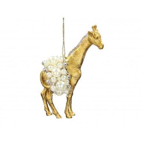 Висяща фигура жираф 10.8см златиста