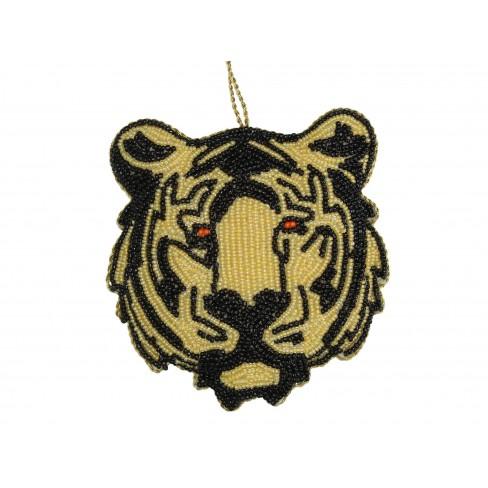 Висяща фигура тигър 10см кафява