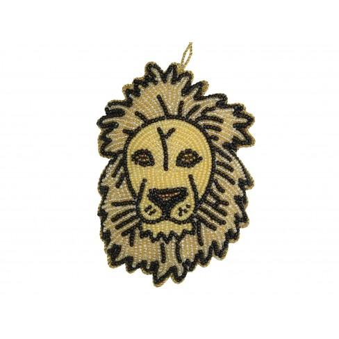 Висяща фигура лъв 11см кафява