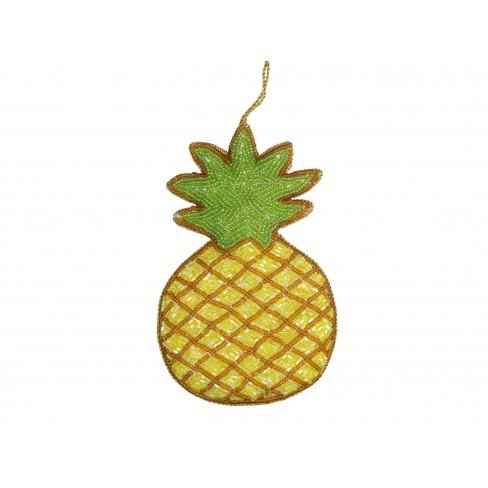 Висяща фигура ананас 13.5см жълта