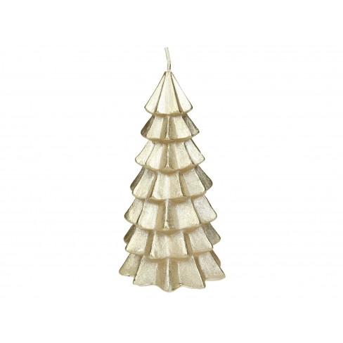 Свещ елха 12см златиста