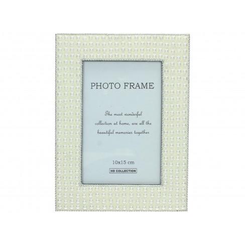 Дървена рамка за снимка 10х15 см екрю