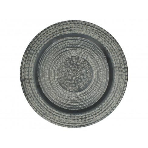 Метален поднос 45x1 см черен