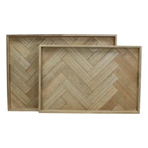 Дървена табла за сервиране 50x35x6 см голяма