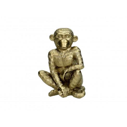 Фигура маймуна 11х9х15см златиста