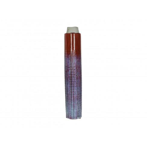 Керамична ваза 9х49.5см червена