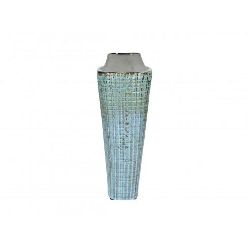 Керамична ваза 13х39.5см синя
