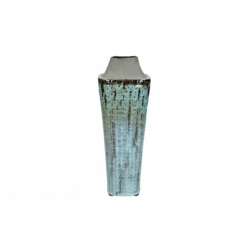 Керамична ваза 10.5х30.5см синя