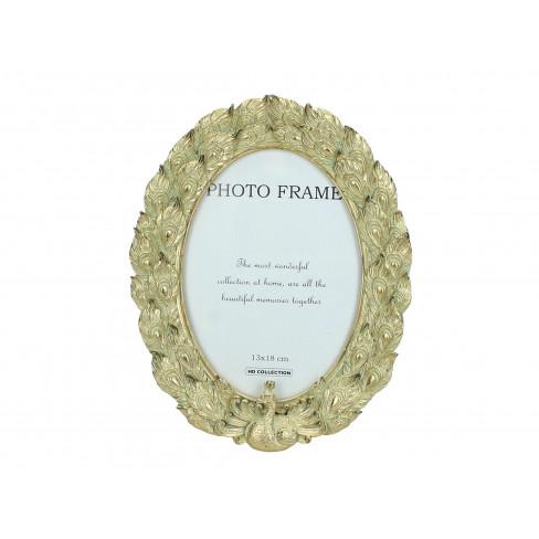 Рамка за снимка паун 13х18см златиста