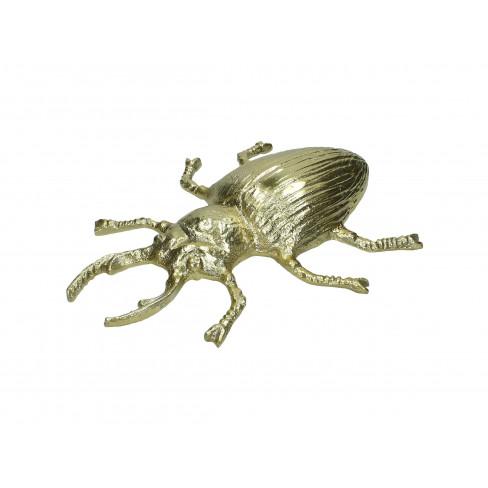 Метална фигура бръмбар 32х25х5см златиста