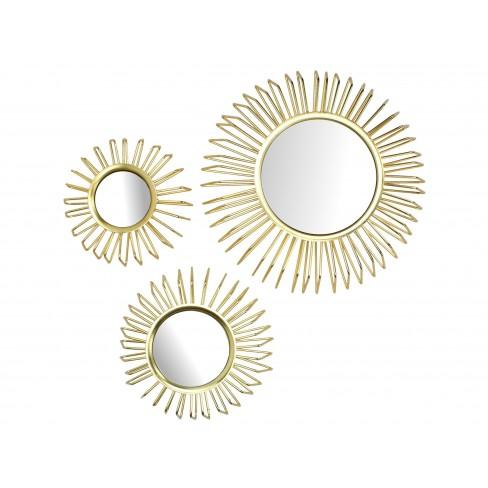 Кт/3 огледала Iron Luxury златисти