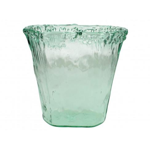 Стъклена ваза 26х19х26см