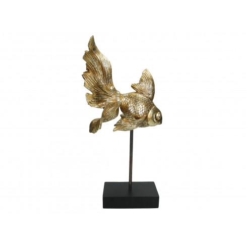 Декоративна фигура риба 20.6х13.7х43.5см златиста