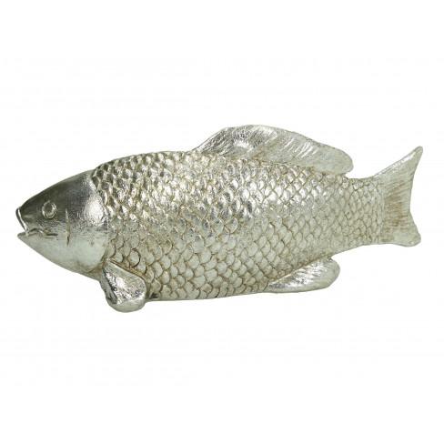 Декоративна фигура риба 24.5х7.5х10см сребриста