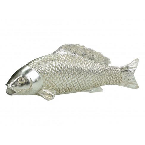 Декоративна фигура риба 30.5х9х12см сребриста