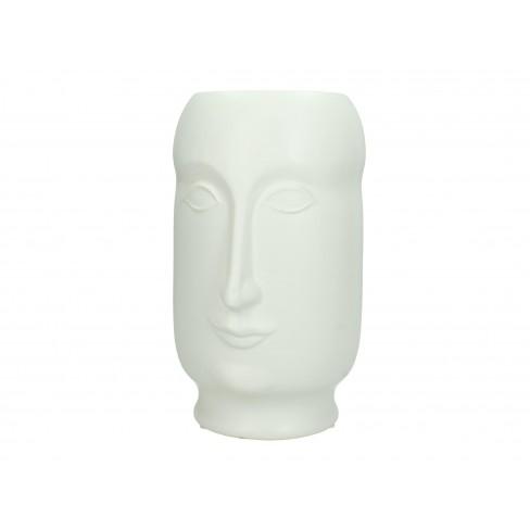 Ваза лице 13.5х15х23см бяла