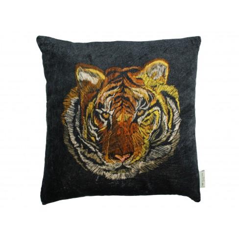 Възглавница тигър 45х45см Velvet черна