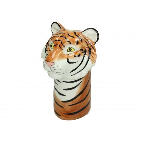 Ваза тигър 15х14х23см кафява