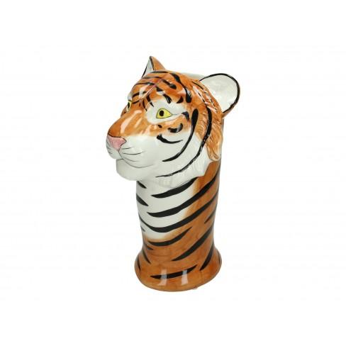 Ваза тигър 19х18х29.5см кафява