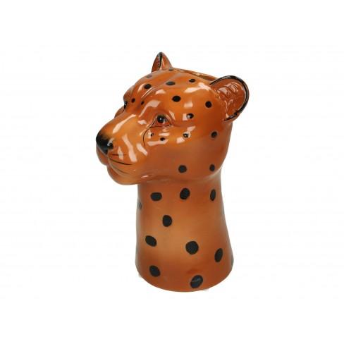Ваза леопард 14.5х13.5х22см кафява