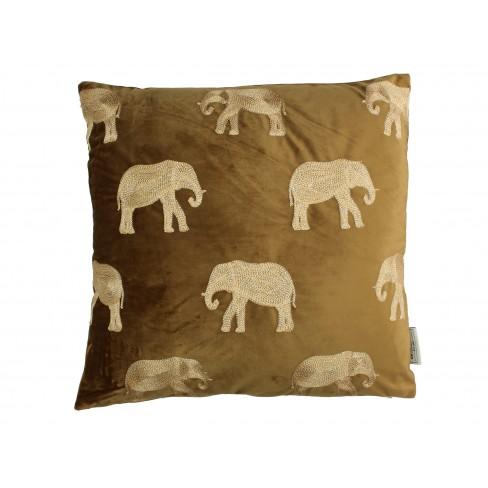 Възглавница слон 45х45см Velvet кафява