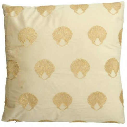 Възглавница с миди 45х45см Velvet екрю